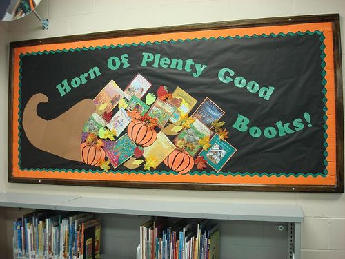 Decorating Ideas > Pin By Holly Maki On Library Bulletin Board Ideas  Pinterest ~ 073412_Thanksgiving Library Decorations