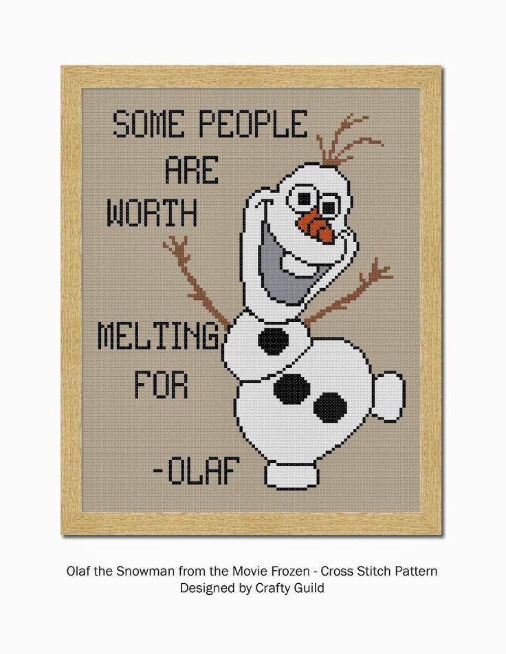 Olaf Free Cross Stitch Pattern