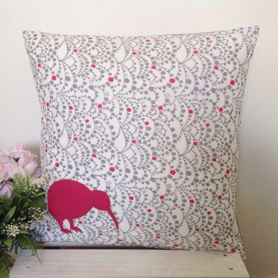 Cushion Cover Grey Bunting Pattern Fabric by natandalicreative