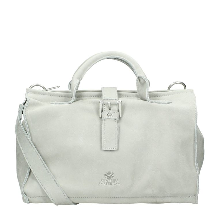 Shabbies Amsterdam Tribe Big Vshopper (silver grey) - Travelbags.nl