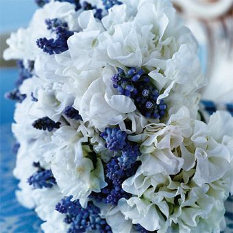 blue-bouquet-wedding-flowers by tibimages, via Flickr