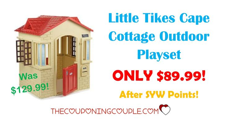 HOT BUY! Be sure to hurry and snag this Little Tikes Cape Cottage Outdoor Playset for ONLY $89.99 (was $129.99)!  Click the link below to get all of the details ► http://www.thecouponingcouple.com/little-tikes-cape-cottage-outdoor-playset-only-89-99-was-129-99/ #Coupons #Couponing #CouponCommunity  Visit us at http://www.thecouponingcouple.com for more great posts!