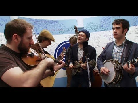"""For their jaunt in the little round room, Punch Brothers decided to tackle The Cars' 1978 hit """"Just What I Needed."""" Watch more covers here: http://www.avclub.com/articles/punch-brothers-cover-the-cars,70701/"""