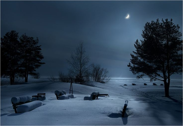 Midnight: Photos, Inspiration, Winter, Nature, Night Photography, Snow, Places, Landscape, Moonlight