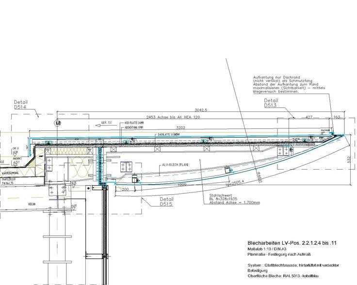 Oberlicht detail dwg  CAD-Detail Roof | Shop Drawing | Pinterest | Architektur ...