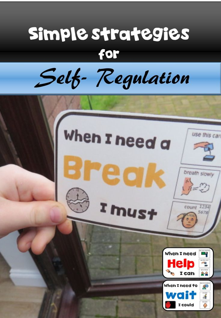 """These handy cards contain visuals for self-regulation. Great for ABA discrete trials and functional Communication. These """"Break"""" """"Wait"""" """"help"""" and """"working for"""" cards are included"""