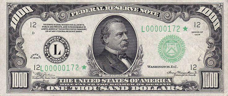 Cleveland $1000 bill