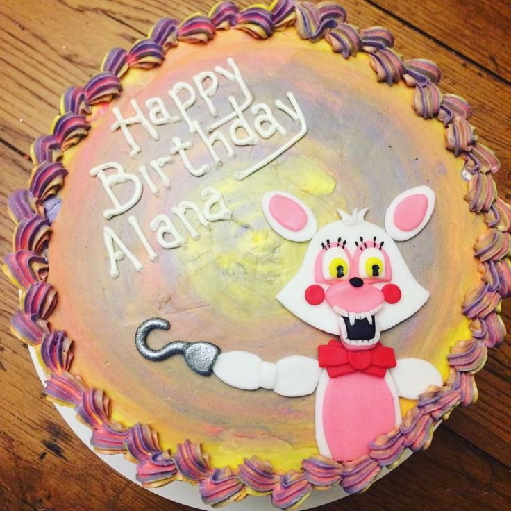 Five Nights At Freddy S Funtime Foxy Birthday Cake