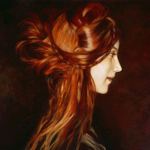 Shades Of Red / Updo: Beautiful Redheads, Oil Paintings, Hairstyles, Hair Colors, Red Hair, Long Hair, Bohemian Hair, Hair Style, Redhair