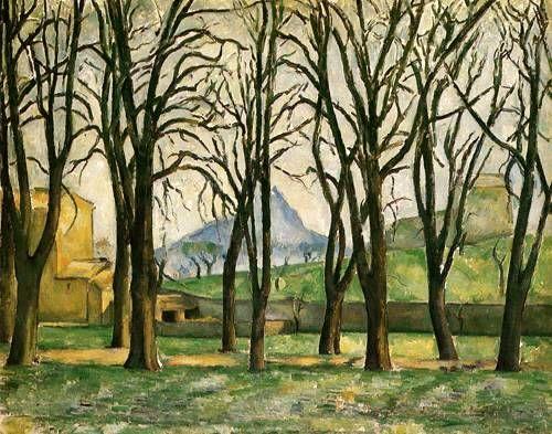 Chestnut trees at Jas de Bouffan - Paul Cezanne