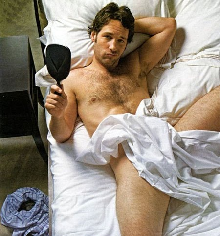 """Hairy Paul Rudd after reading """"Our Bodies Ourselves"""""""