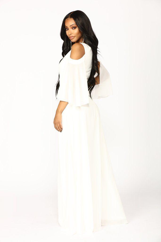 6deff9e74f80 Debutante Ball Chiffon Dress - White in 2019 | 7/27/19 | White dress ...