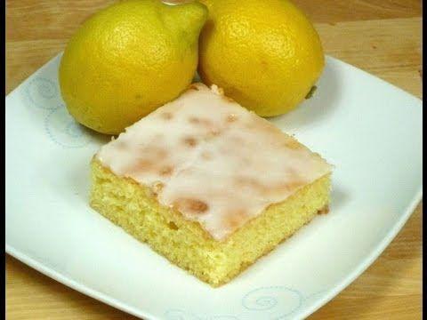 Zitronenkuchen vom Blech - YouTube