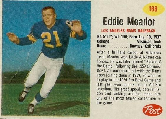 Ed Meador Football | ... Eddie Meador, a Nominee for Pro Football Hall of Fame-eddie-meador2