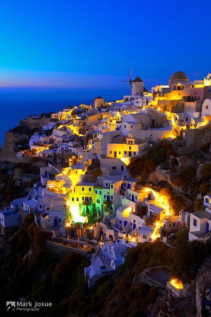 Blue Hour at Oia, Santorini, Greece