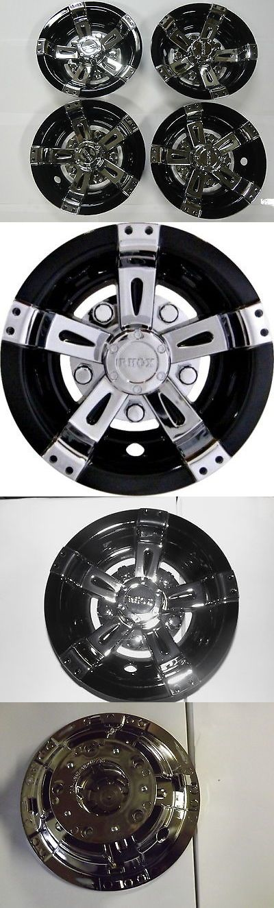 Push-Pull Golf Carts 75207: Golf Cart Hub Caps Wheel Cover 8 Vegas Black And Chrome Club Car Ez-Go Yamaha -> BUY IT NOW ONLY: $71.99 on eBay!