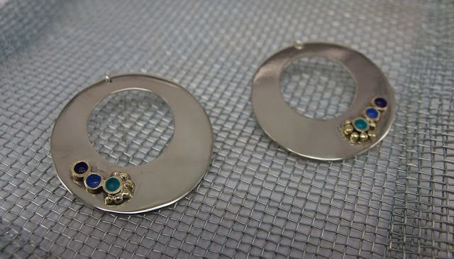 german silver earrings, handmade jewellery - Kiki