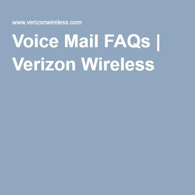 Voice Mail FAQs | Verizon Wireless