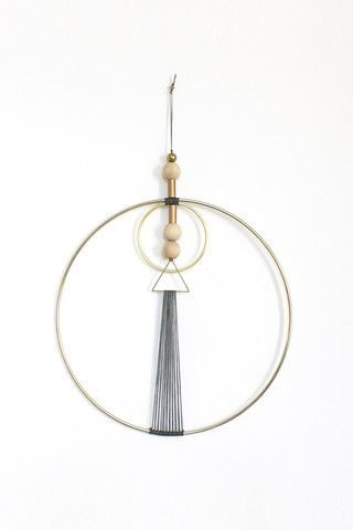 BRASS MULTI GEO WALL HANGING - Young & Able