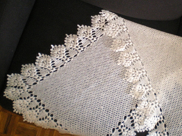 Willow Pattern Shawl by Mary Konior.