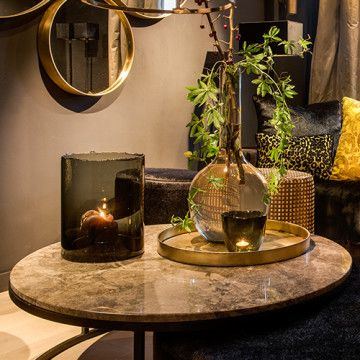Table black with marble