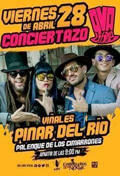 """PINAR DEL RÍO, CUBA:  """"QVA LIBRE"""" EN CONCIERTO*HOY VIERNES 28*EN EL PALENQUE DE LOS CIMARRONES (VIÑALES)*DESDE LAS 9pm*LOS CABALLEROS DE LA NOCHE 🎩💯🔝🎵🇨🇺 -_*  PARA RECIBIR NUESTRA PROMOCION POR SMS ENVIA: ''PROMO QVA LIBRE'' AL +5354834060 www.facebook.com/top.publicity @top_publicity www.facebook.com/webcubana www.webcubana.com www.facebook.com/gocuba360"""