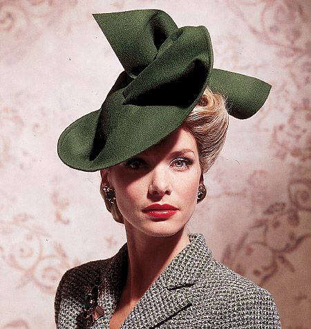 Vogue Vintage Hat Pattern: 5 styles and all sizes in one envelope. $7.53#Hats #Vintage #Sewing