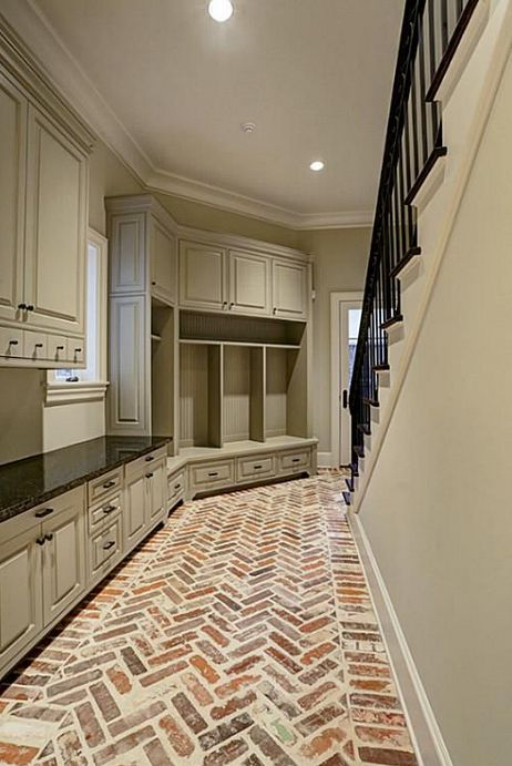 Best 25 brick porch ideas on pinterest farm house porch for Mudroom floors