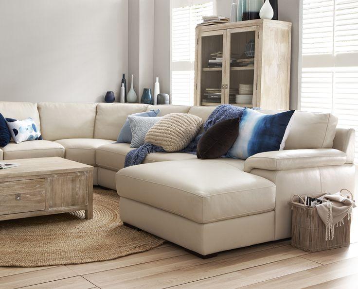 Freedom  Monopoli 4 piece leather modular sofa in Universal Leather $4999
