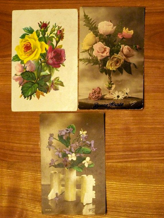 French vintage postcards: Vintage Postcards, Decorating Ideas, Postcards Flower, French Vintage