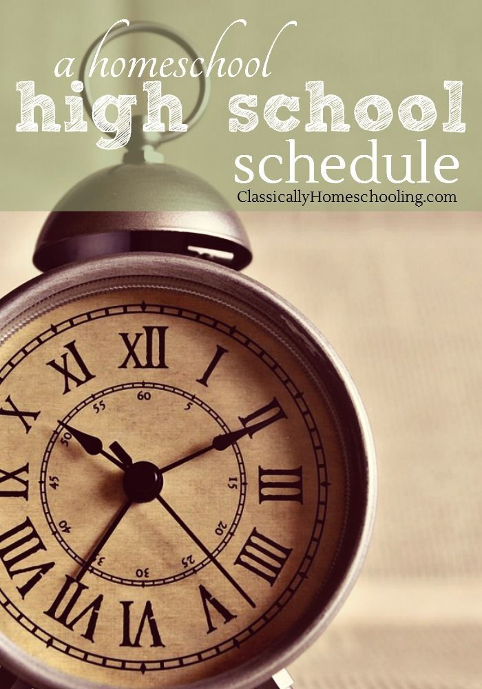 Are you pondering a homeschool high school schedule and looking for an example of one? Currently I have three high school students in the house and thought I'd share the schedule we've developed after much trial and error.