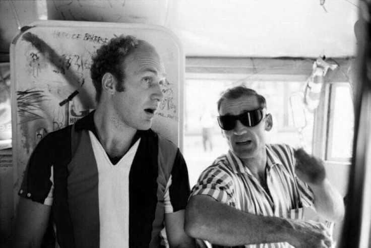 Ken Kesey and Neal Cassady.