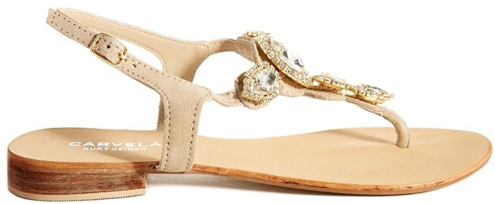 Carvela Bonnie Jewelled Toe Post Flat Sandals on shopstyle.co.uk
