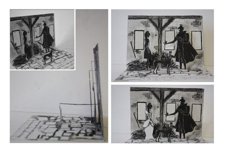 "illustration for a ""térkönyv"" school project. paper, ink."