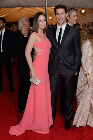 Emily Blunt and John Krasinski from The Office (Emily was previously engaged to Michael Buble)