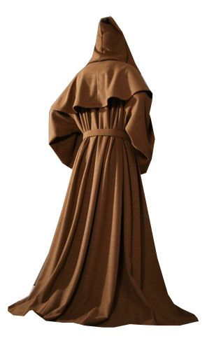 Mens Medieval Monk Costume Size XXL