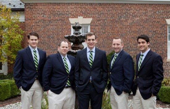 Preppy Groomsmen Attire 550x354 Preppy Virginia Country Club Wedding Ceremony: Katharine + Brad