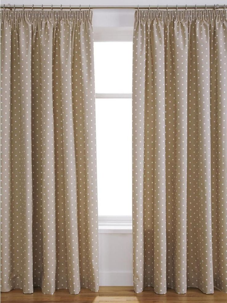 Dotty Pencil Pleat Thermal Blackout Curtains - darkness has never looked so colourful! Perfect for children's bedrooms or those who like a lie-in at the weekend, these Dotty blackout curtains feature a pretty spot design on a colourful background.Available in blue, natural and pink colour options, the style of the pleated blackout curtains helps give your room a country cottage charm, and the blackout lining ensures your slumber isn't interrupted by early morning sunshine.These pleated…