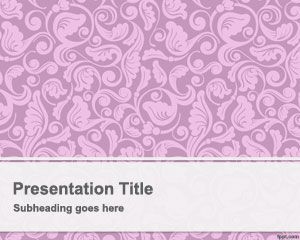Pink Vintage PowerPoint Template PPT Template