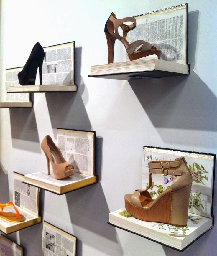 17 mejores ideas sobre exhibici n del zapato en pinterest for Ideas de decoracion reciclando