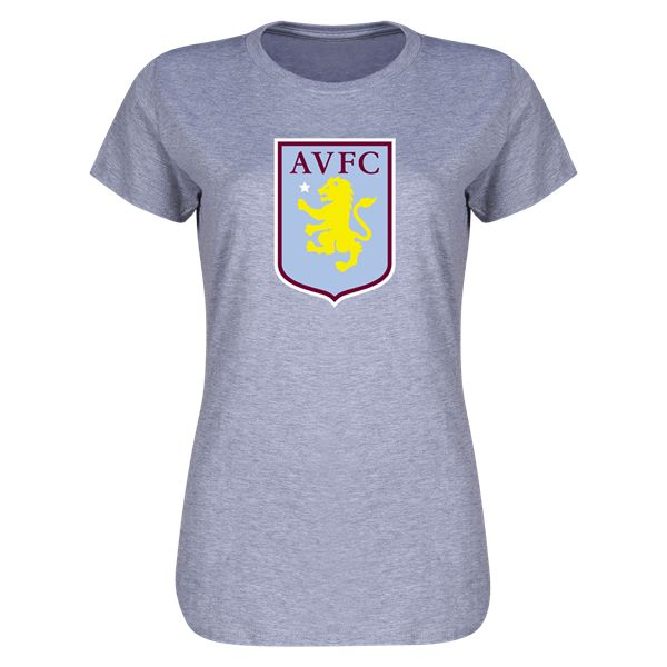 Aston Villa Women's Distressed T-Shirt -     |  $19.99   |  Holiday Gift & Stocking Stuffer ideas for the Aston Villa FC fan at WorldSoccerShop.com