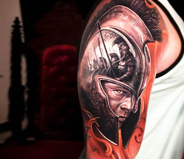 Achilles tattoo by Arlo Tattoos