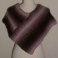 Poncho court/chauffe-épaule pour femme, tricoté main