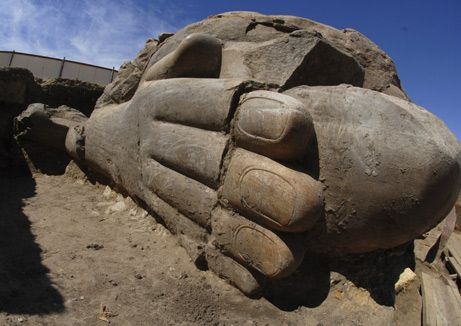 -Intact Colossus of Egypt's Queen Tiye Found.