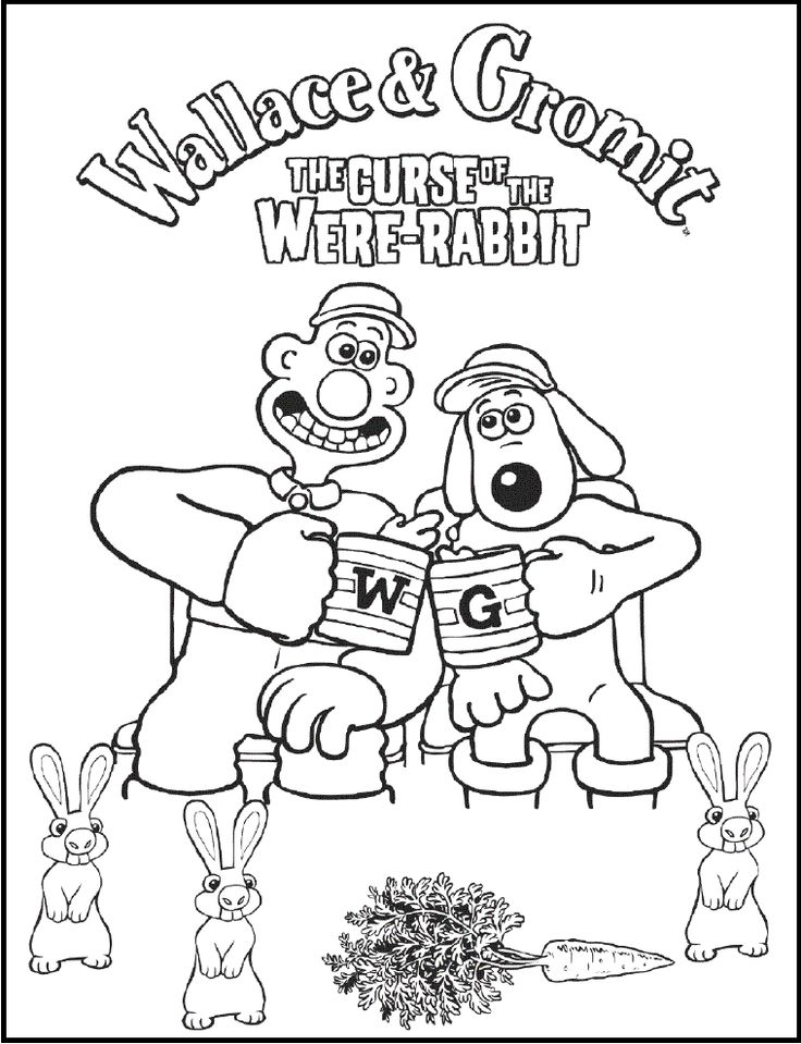19 best Wallace And Gromit images on Pinterest  Coloring pictures