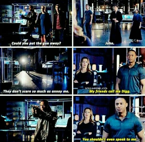 John Diggle + His Obvious Dislike for Malcolm Merlyn #Arrow