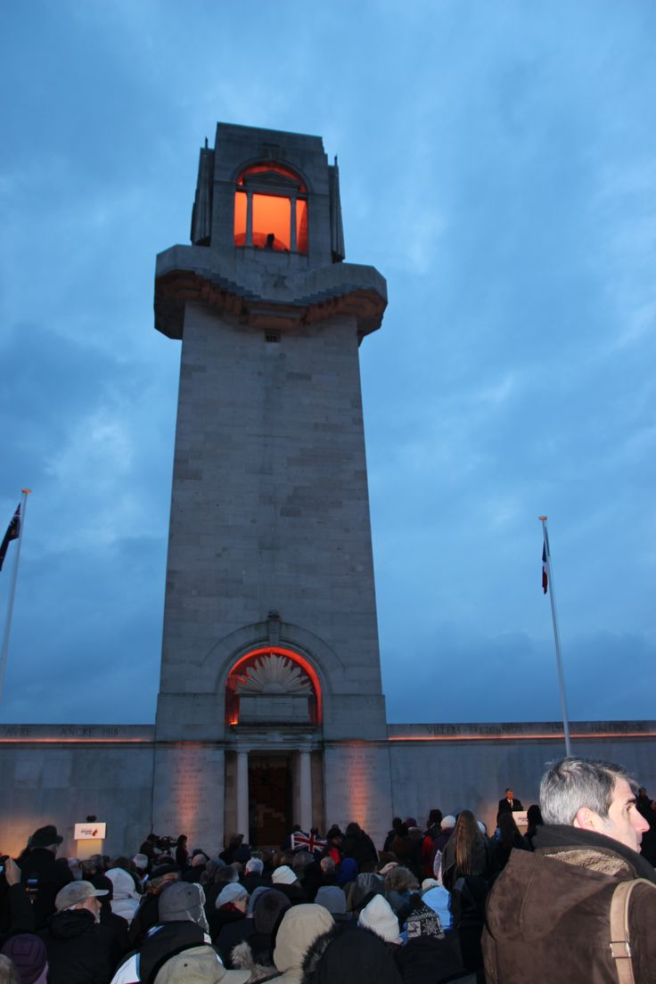 Dawn service ANZAC day.  Freezing, cloudy but so worth it. Villers France