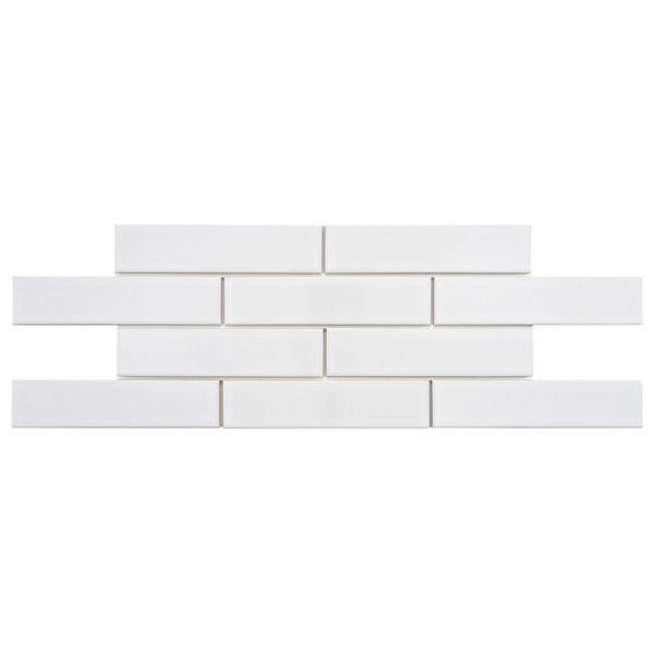 SomerTile Victorian Soho Subway White Porcelain Tiles (Case of 100) - Overstock™ Shopping - Big Discounts on Somertile Wall Tiles