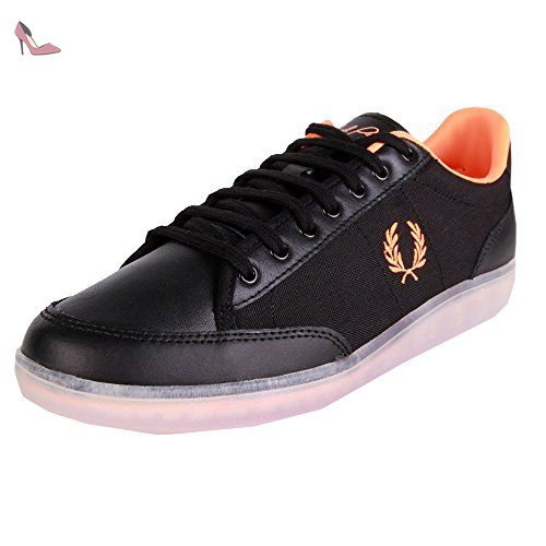 Fred Perry Soho Hopman Leather Nylon Black 45 - Chaussures fred perry (*Partner-Link)