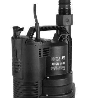 T.I.P. 30166 Integra 8000 Pompe submersible de drainage 2 mm: Modèle spécial pour le drainage ou le drainage d'urgence avec « essorage »…